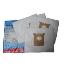 Aanbieding S-BAG Stofzuigerzakken voor Philips/Electrolux/AEG/Volta Stofzuigers 4 Stuks